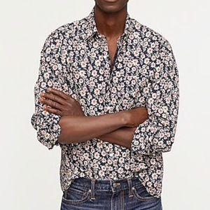 NWT J.Crew Slim Stretch Secret Wash Shirt Large
